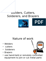welders cutters solderers and brazers