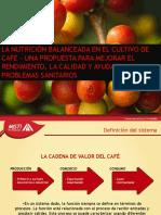 La Nutrición,Una Alternativa Para Incrementar Rendimientos- Expocafe 2013
