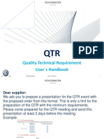 Qualiry Technical Rrequirement User s Handbook VW Mexico