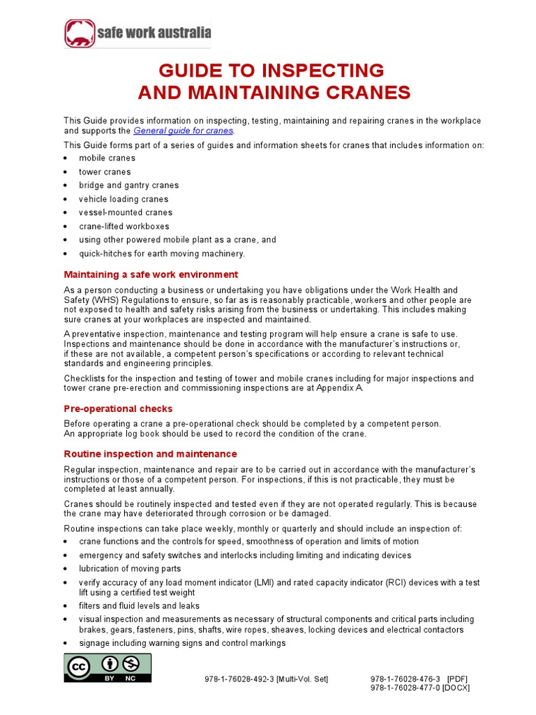 Guide to Inspecting and Maintaining Cranes (3) | Crane (Machine ...