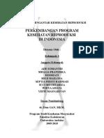 PERKEMBANGAN PROGRAM KESEHATAN REPRODUKSI  DI INDONESIA