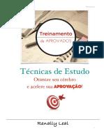 Treinamento Para Aprovados - Estratégia de Estudo