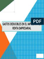Gastos Deducibles en El Ir Empresarial 7-12-2014 (1)