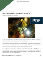 048 - Driver Para LEDS de Alta Potencia _ Inventable