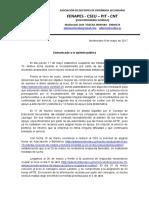 Comunicado a La Opinion Publica Ocupacion 11 de Mayo