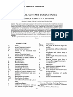 Thermal Contact Conductance