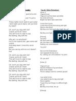 Lyrics Wed Songs