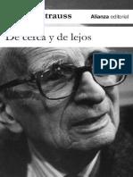 De Cerca y de Lejos - Claude Levi-Strauss