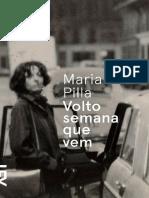 Volto Semana Que Vem - Marilia Pilla