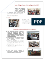 Telugu Prant - Activities Report