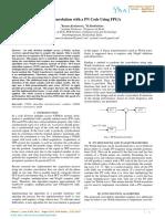Fast Convolution with a PN Code Using FPGA   1Kumar.Keshamoni,