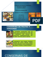 Conservas de Frutas y Hortalizas