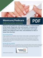 Manicurepedicurecodeofpractice Summary