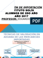 Clase de Valoracion Importacion 2017-Ppt-1