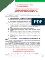 Esquema Resumen II Republica