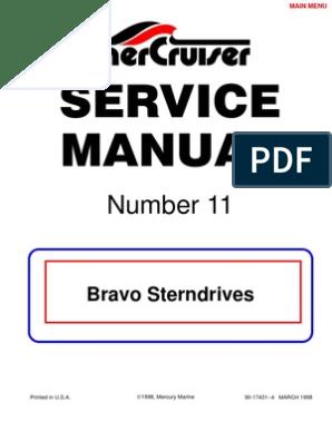 Merc Service Manual 11 Bravo Stern Drives | Gear | Bearing (Mechanical)