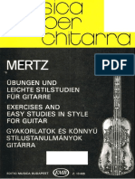 MERTZ - Exercises and Easy Studies in Style for Guitar (Edited by Szendrey-Karpe