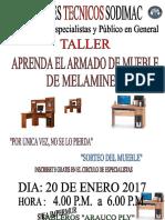 Armado Muebles Melamine 2017
