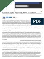 Funcionalidades Estratégias Em Sistemas ERP - Enterprise Resource Planning - Artigo Linhadecodigo