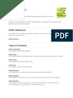 242945444-w3schools-xPath pdf | X Path | Xslt