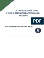 Master Plan Pentru Dezvoltarea Turismului Balnear