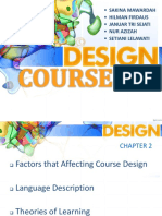 Course Design of ESP