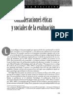 Consideraciones Eticas y Sociales de Las Evaluaciones