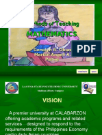 Methods of Teaching Mathematics