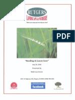 Seeding and Lawn Care Seminar