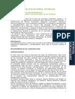 Especificaciones Tecnicas Puquina - Challahuayo