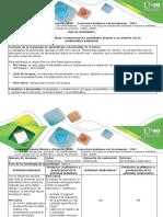 Guía de Actividades Tarea 4. Analizar e Interiorizar Las Actividades Propias y Su Relación Con La Problemática Ambiental