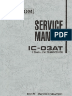 ICOM IC-03AT Service Manual