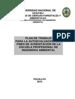 Plan de Autoevaluacion Escuela Ing Ambiental