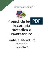 0 Proiect Limba Romana1 Consolidare Si Fixare
