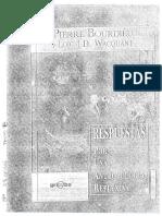 Bourdieu y Wacquant Introducción y 1a Parte- Respuestas Por Una Antropología Reflexiva