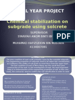 Chemical Stabilization on Subgrade Using Solcrete