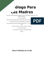 Monólogo para las madres