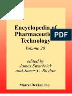 Encyclopedia of Pharmaceutical Technology, Volume 20
