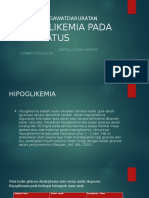 Asuhan Kegawatdaruratan Hipoglikemia Pada Neonatus