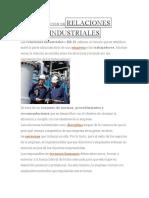 Definición Derelaciones Industriales
