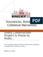 Risk Management - Insurances, Bonds and Collateral Warranties-1