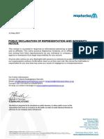 Maphorisa Communications - Public Declaration of Representation and Indemnity Notice