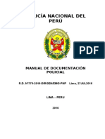 Manual de Documentación Policial 2016