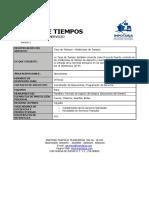 RF006 Ficha Tecnica Tarja de Tiempos