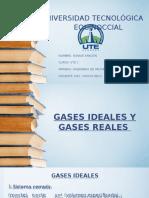 GASES IDEALES Y REALES