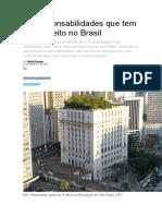 As Responsabilidades Que Tem Um Prefeito No Brasil