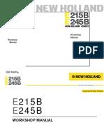 New Holland KOBELCO E215B E245B Workshop Manual