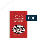 23 Tips on What Not to Say or Do When Working With First Nations