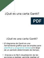 Diseñar Carta Gantt