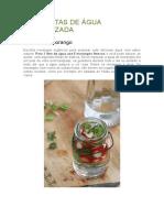 10 Receitas de Água Aromatizada